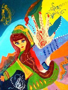 Afghan Woman doing the Atan