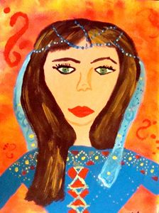 Afghan lady fashion Designer
