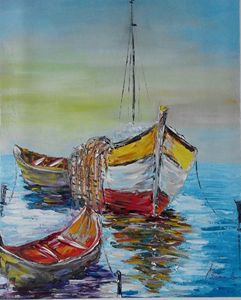 ''Boats in the sea''