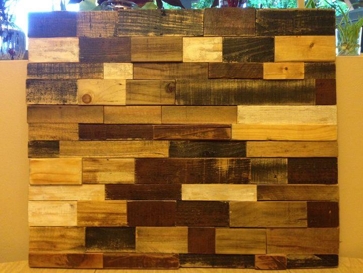 Handmade reclaimed wood rustic art - Miles Campbell