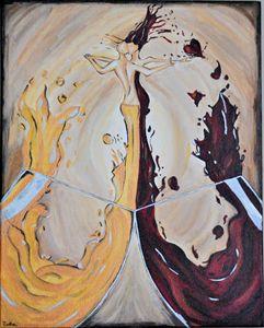 Modern Art Abstract Acrylic Painting