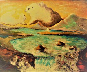 Polar Bear and Ram in the Sky