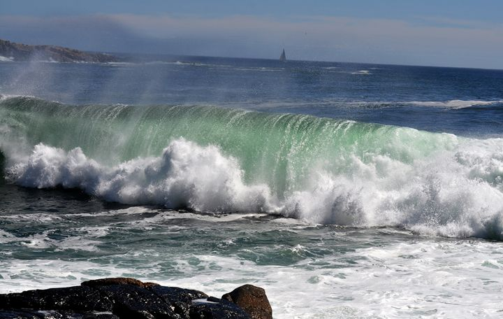 The Pipe - High Surf at Schoodic - NatureBabe Photos