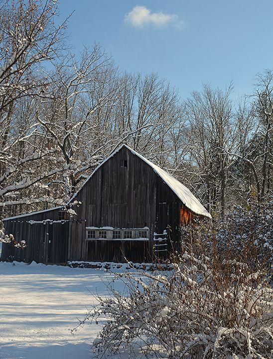 Winter Wonderland Antique Barn - NatureBabe Photos