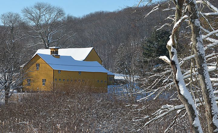 """""""Old Yeller"""" Barn in the Snow - NatureBabe Photos"""