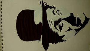 Abstract potrait of Charlie Chaplin