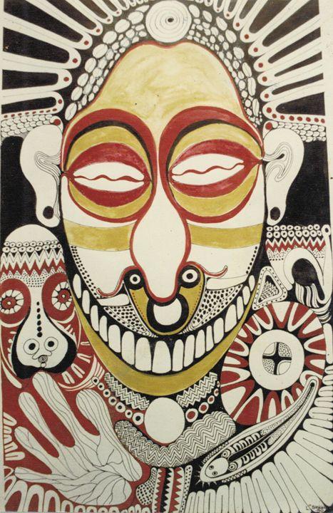 River God-Sepik PNG - widow's Craft