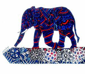 Patterned Elephant