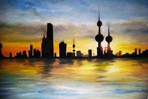 Kuwait summer sunset