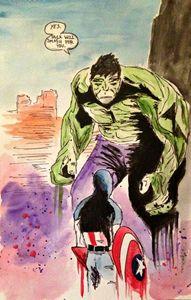 Hulk and Captain America - Elisabeth Elder-Gomes