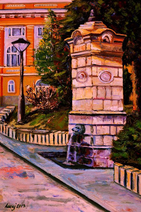 old fountain in the park in Uzice - atelje lerok