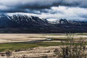Somber Mountainscape
