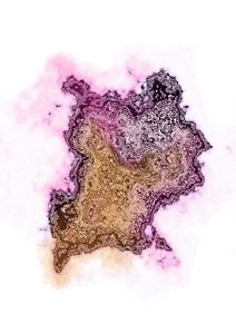 'Black pink and gold marble splat'