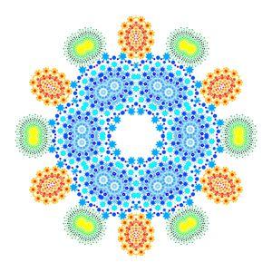A kaleidoscope of dots