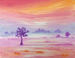 Foggy Fields II