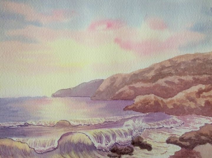 Sunset Waves - Susannah Helene Art
