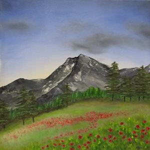 Mountainside Poppies