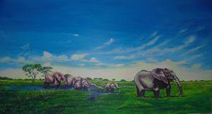 ''Elephants of Okavango''