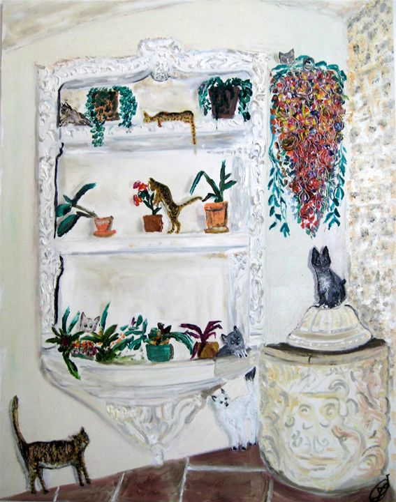 Jakonja-Washing-stand & cats - jovan cavor