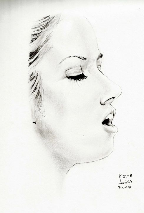 Woman with Eyes Closed - Kevin Jones