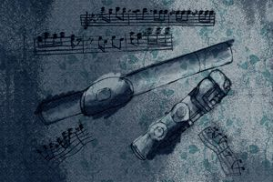 Flute & Music Notes