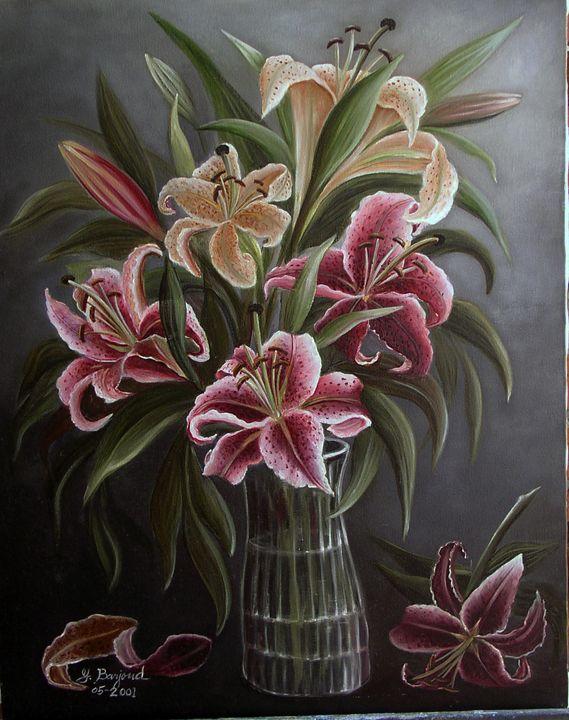Pink Lilies - Yolanda Barjoud Originals