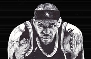LeBron James Ink Drawing