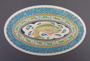 Salmon of Knowledge Mandala Celtic K
