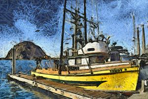 Trudy S Fishing Boat Morro Bay - FASGallery/ArtPal