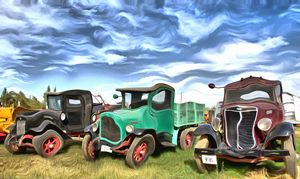 Super Funky Antique Trucks - FASGallery/ArtPal