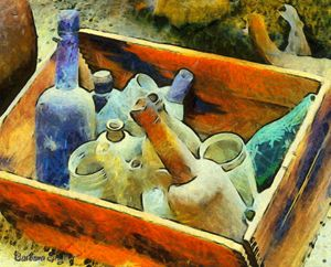 A Box of Bottles by Barbara Snyder - FASGallery/ArtPal