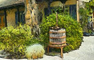 Antique Wine Press 3 by Floyd Snyder