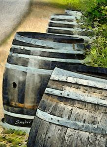 Wine Barrels Foxen Winery Abstract