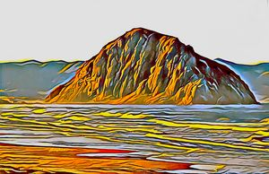 Morro Rock Morro Bay Abstract - FASGallery/ArtPal