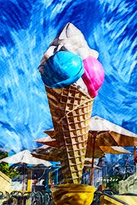 Giant Ice Cream Cone by Floyd Snyder - FASGallery/ArtPal