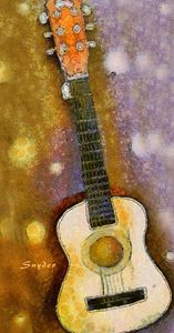 Van Gogh Brown Starry Night Guitar - FASGallery/ArtPal