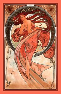 Dance by Alphonse Maria Mucha - FASGallery/ArtPal