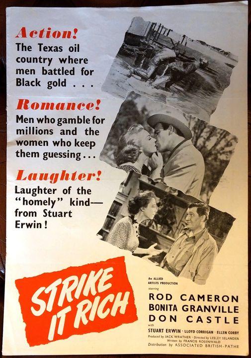 'Strike It Rich' (1948) Film Poster - Redbusart