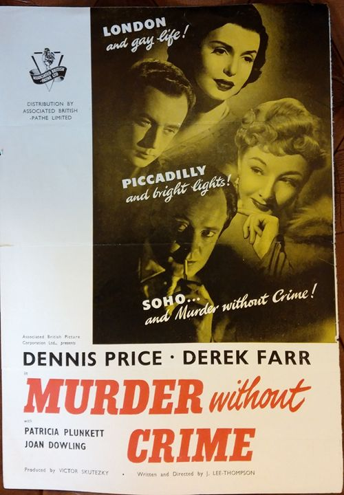 'Murder Without Crime'(1951) Poster - Redbusart