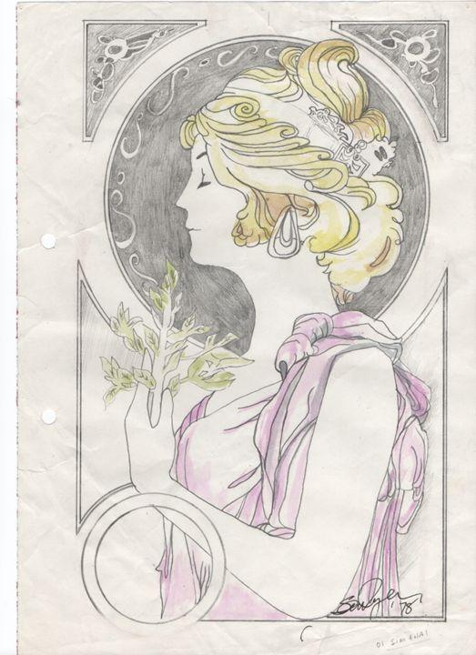 Painted of Old Mirror - Sean''s Irish Art