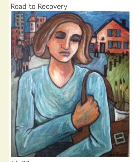 Road to recovery - Paintings by Angela Thomson