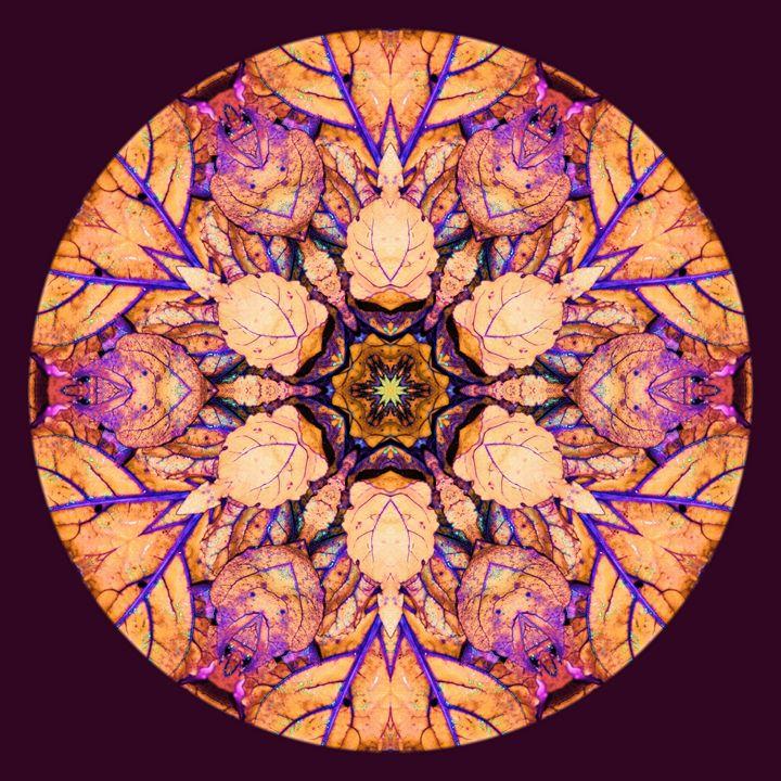 Orange Leaves with Purple Veins - Digital Crafts