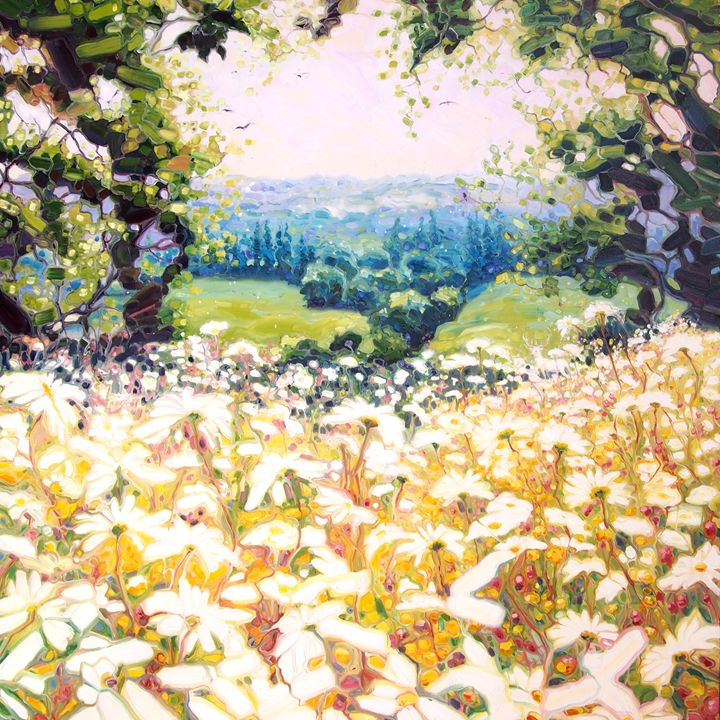 white hart of a Sussex field - Gill Bustamante - Artist