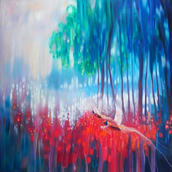 Shimmering Summer - landscape with p - Gill Bustamante - Artist