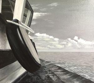 Fishing Boat in monochrome