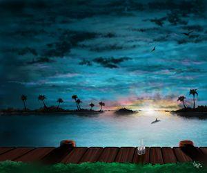 Sundown on the Harbor