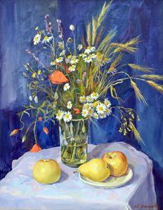 Daisies and Poppies - Irina Ushakova