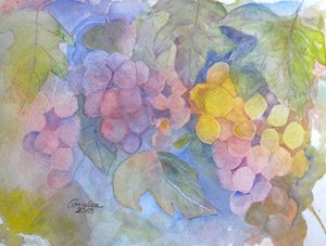 Autumn Grapes - Art by Coralee