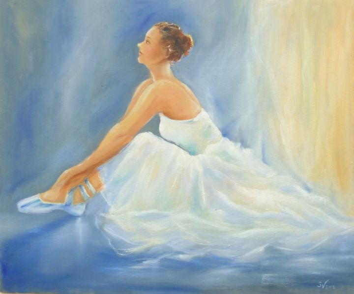 Ballerina waiting in the wings - Art gallery Susana Zárate