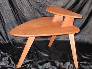 midcentury modern inspired end table